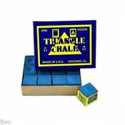 TRIANGLE CHALK BLUE 12PCS