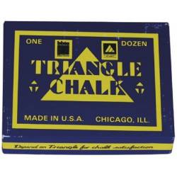 TRIANGLE CHALK BLUE 12PCS